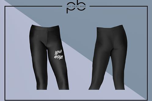 Glossy 3/4 Leggings - Print (H)
