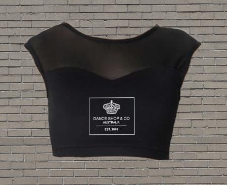 Cap Sleeve Mesh Crop (Tactel)