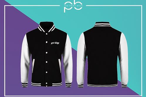Contrast Varsity Jacket - Print (A)