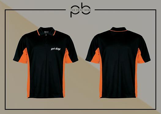 Panel Polo Shirt - Print (A)