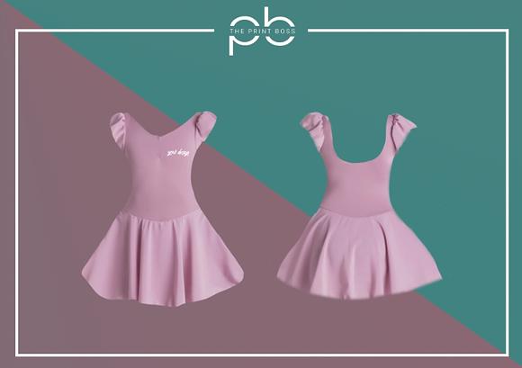 Cap Sleeve Dress - Print (A)
