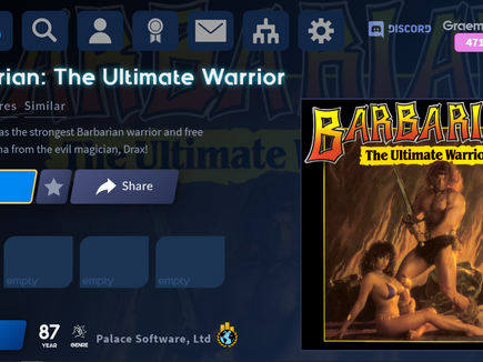 The Antstream Arcade Archive: Barbarian: The Ultimate Warrior