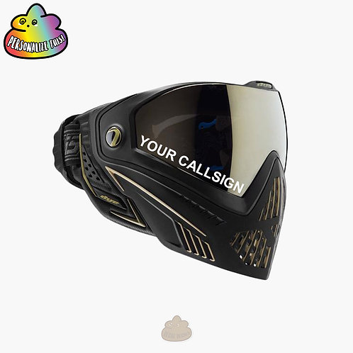 Custom Callsign Decal for Airsoft Mask