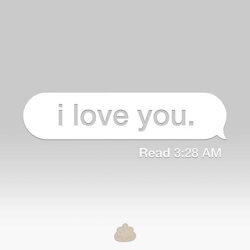 I Love You Text Message Read Car Decal Glitter White Diamond Stars Sparkly Sticker Sad Boi Sad Girl