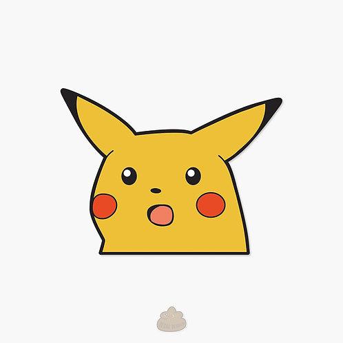 Shocked Pikachu Meme Sticker Decal