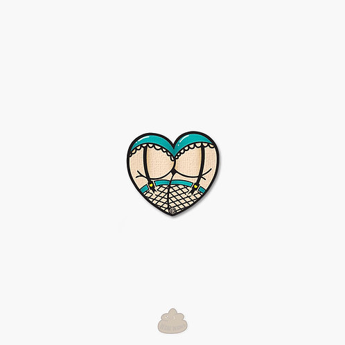 Tiffany Blue Heart Ass Booty Panties Patch for Airsoft Loadout Kawaii