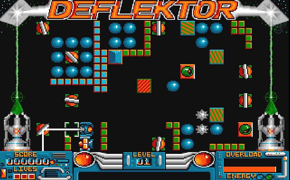 Deflektor Retro Game Amiga Spectrum