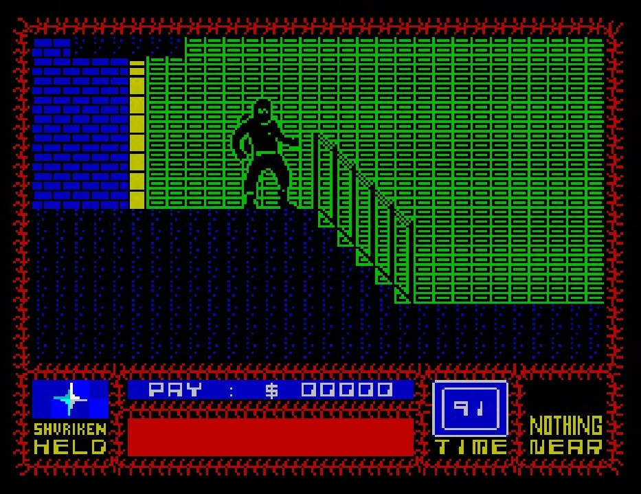Classic Retro Game Saboteur ZX Spectrum