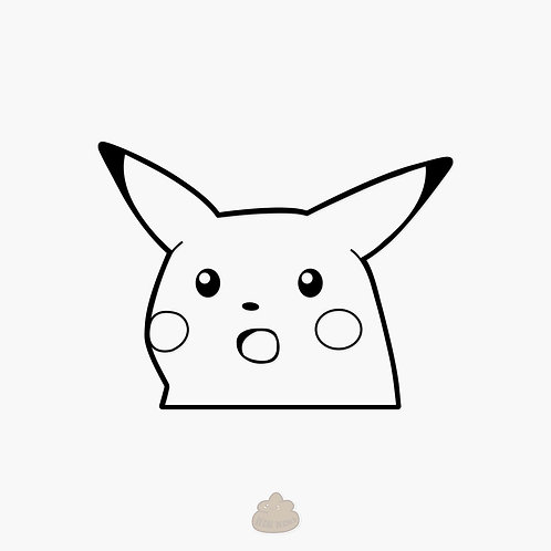 Surprised Pikachu Meme Decal