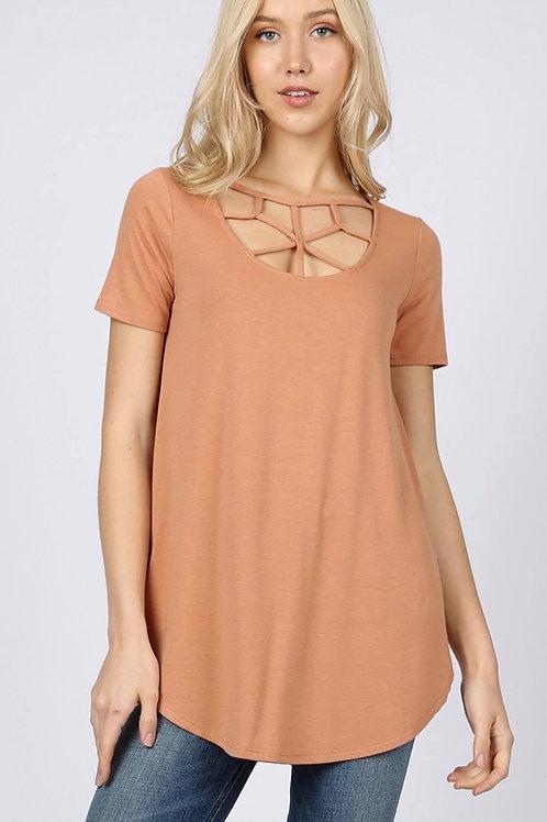 Caramel Criss Cross Shirt