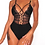 Thumbnail: Criss Cross Lace Bodysuit w/ cutout