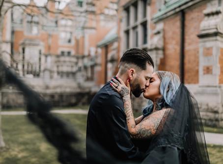 Fairhaven High School Gothic Wedding Shoot