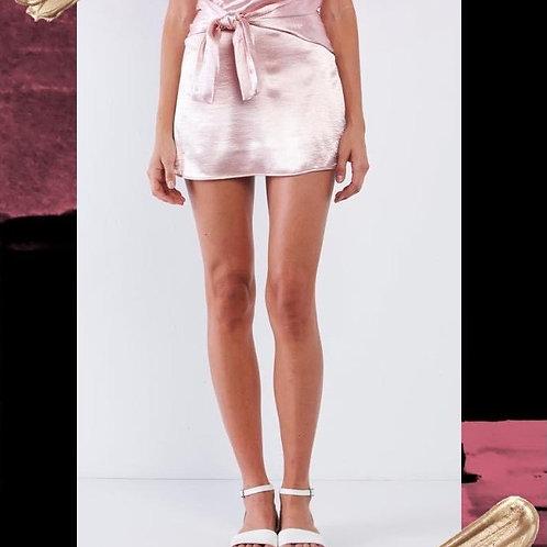 Satin Blush Pink Skirt