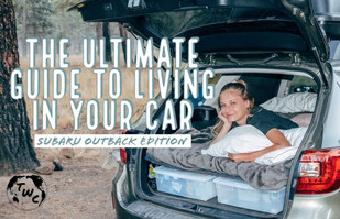The Ultimate Car Camper Conversion on a Budget: Subaru Outback Edition