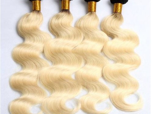 Vietnamese Denim Blonde Dark Root Body Wave Bundle Deal