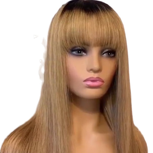 Ombre Full Lace  Indian Bang Wig