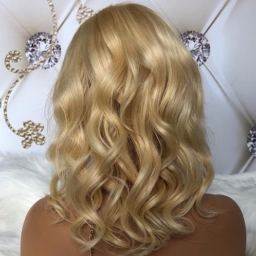 Loose Curly Blonde Frontal Wig