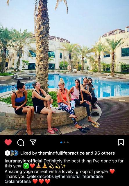 Testimonial - Yoga Retreat - Laura - Instagram
