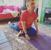 Matt - Yoga Teacher - Sober Flow - pigeon pose