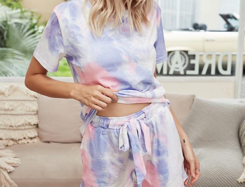 Homewear Set Tie-dye flieder