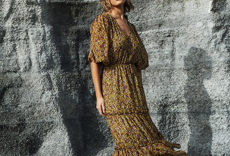 Kleid Denise kaki