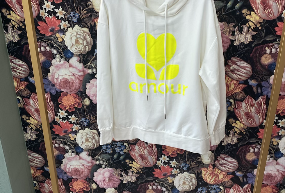 Sweatshirt AMOUR gelb