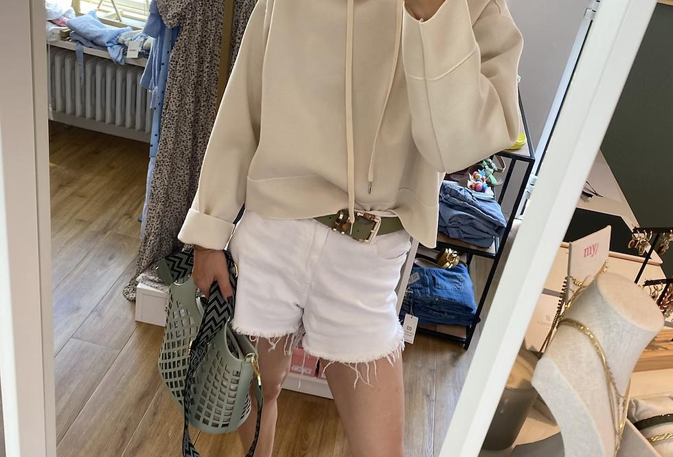 Kapuzensweater offwhite