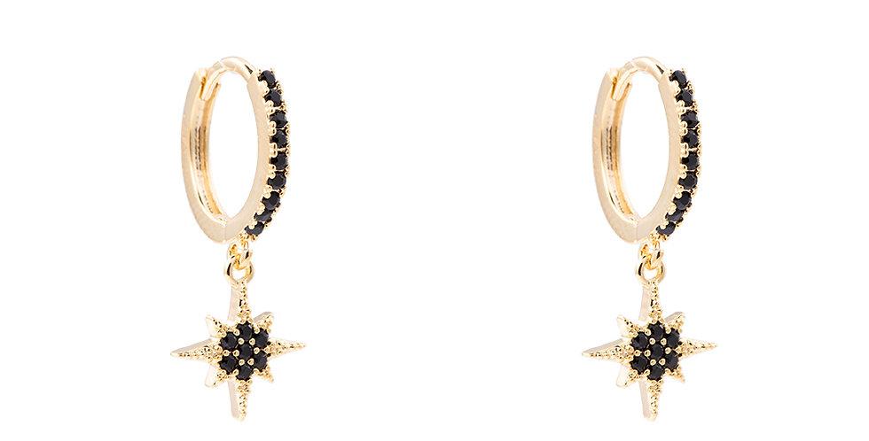 Ohrringe Star schwarz