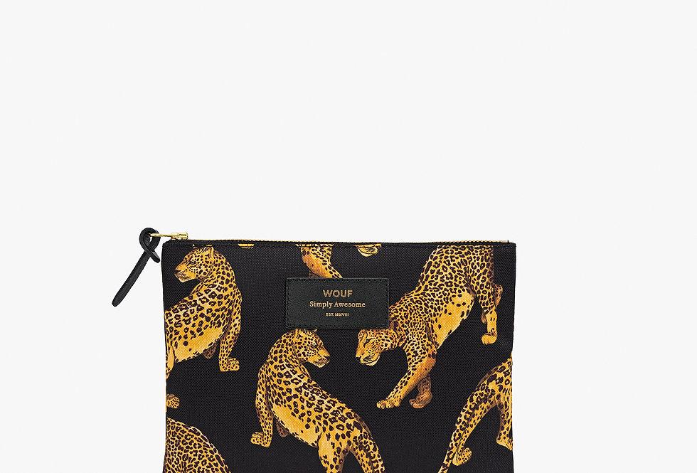 Pouch Black Leopard