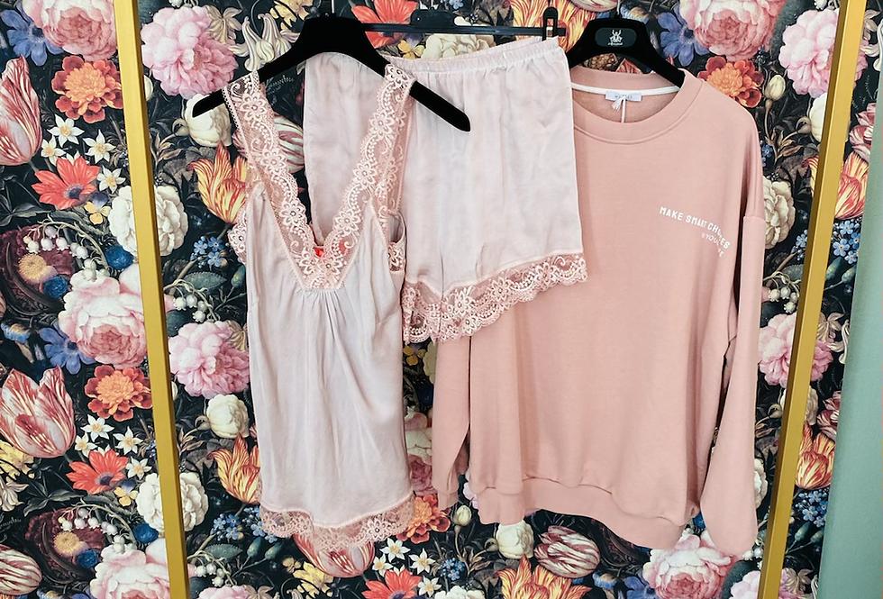 Pyjama Set rose ohne Sweater!