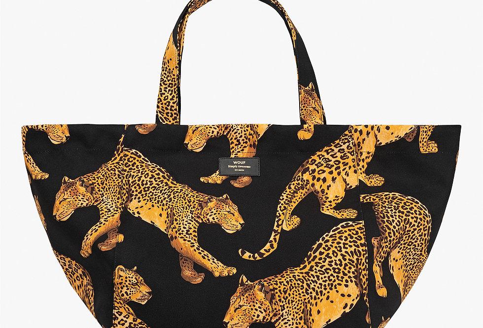 XL Shopper Tote Bag - Leopard