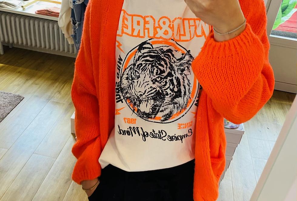 T-Shirt wild Tiger neon
