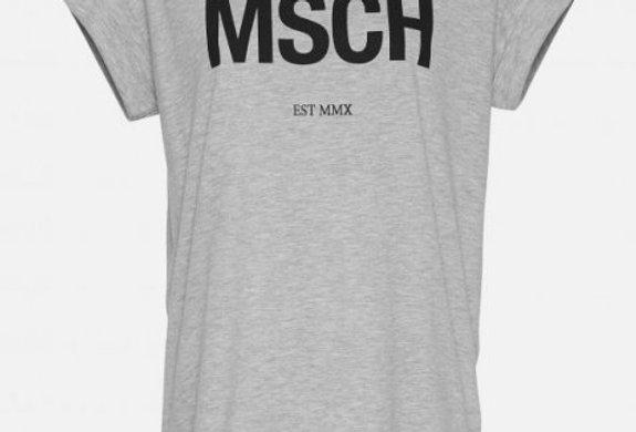 Moss T-Shirt grau