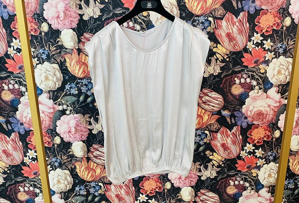Shirt Materialmix silbergrau