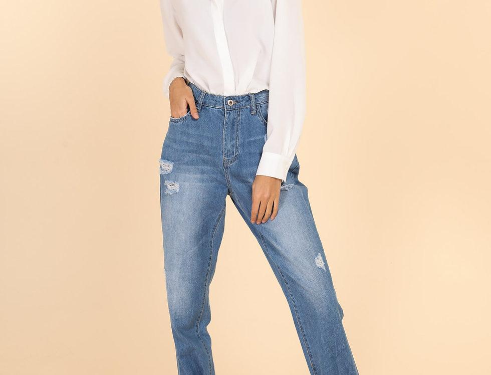 Jeans mit Band am Knöchel
