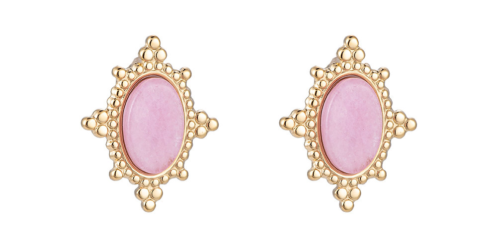 Ohrring Aleidis Naturstein rosa