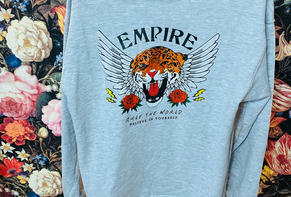 Sweatshirt Tiger grau