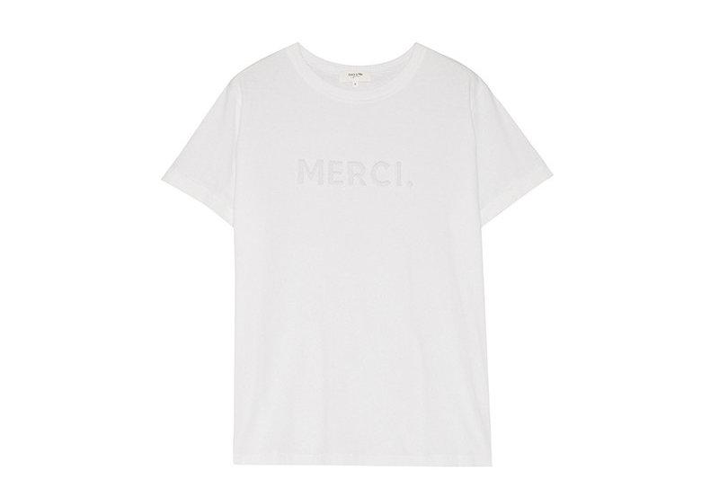 T-Shirt Merci weiß