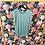 Thumbnail: Shirt Materialmix mineral blue
