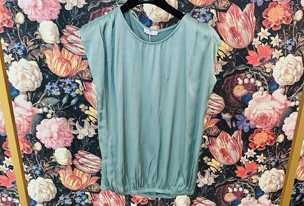 Shirt Materialmix mineral blue