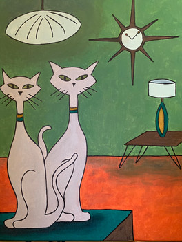 Two Cats Chillin // Claire Nelson — Illustration