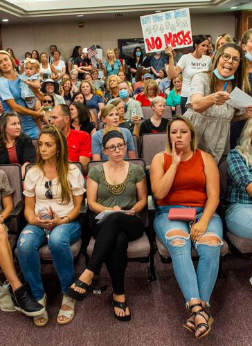 Utahns protest mask mandate and demand in-person classes