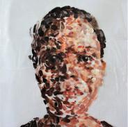 Shelf Lives Series, Acrylic paint on plastic bag, 2020