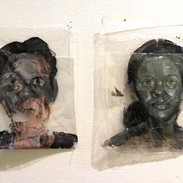 Built-In Obsolescence, 2011, acrylic on plastic bag