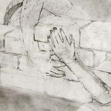 Brick and Mortar (detail), 2017, charcoal on paper