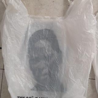Wholesale Degradables, 2014-15, Acrylic on disposable plastic bags