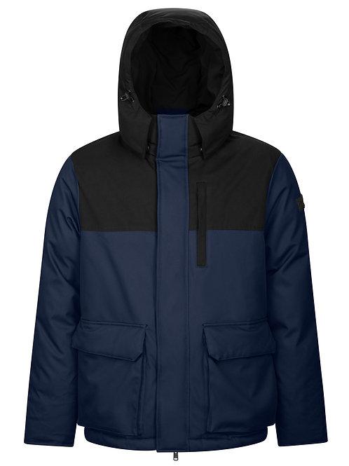 Man's coat with detachable hood