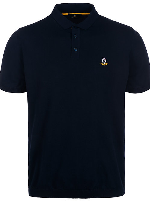 Short-sleeved man's polo, knitted