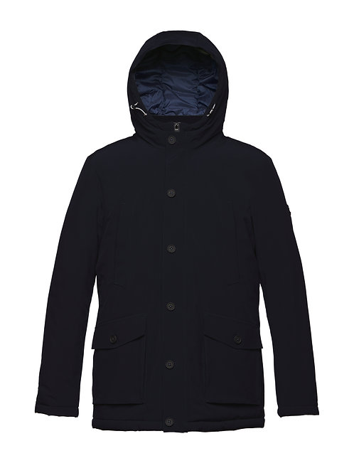 Man's coat with hood