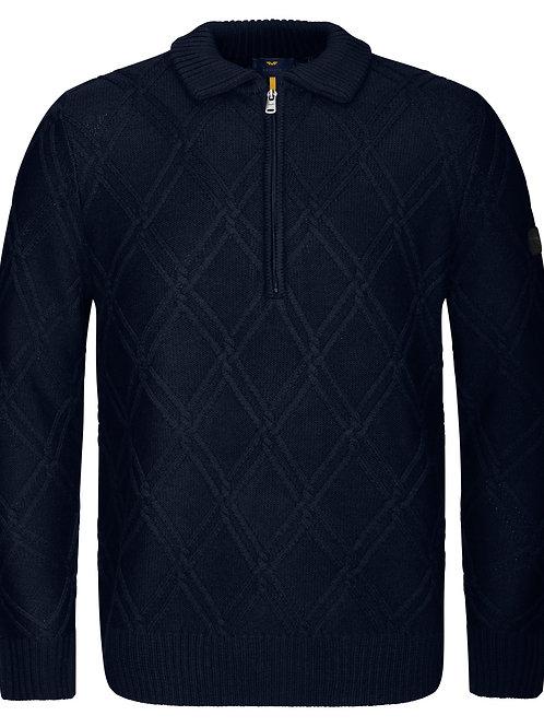 Men's zip neck sweater
